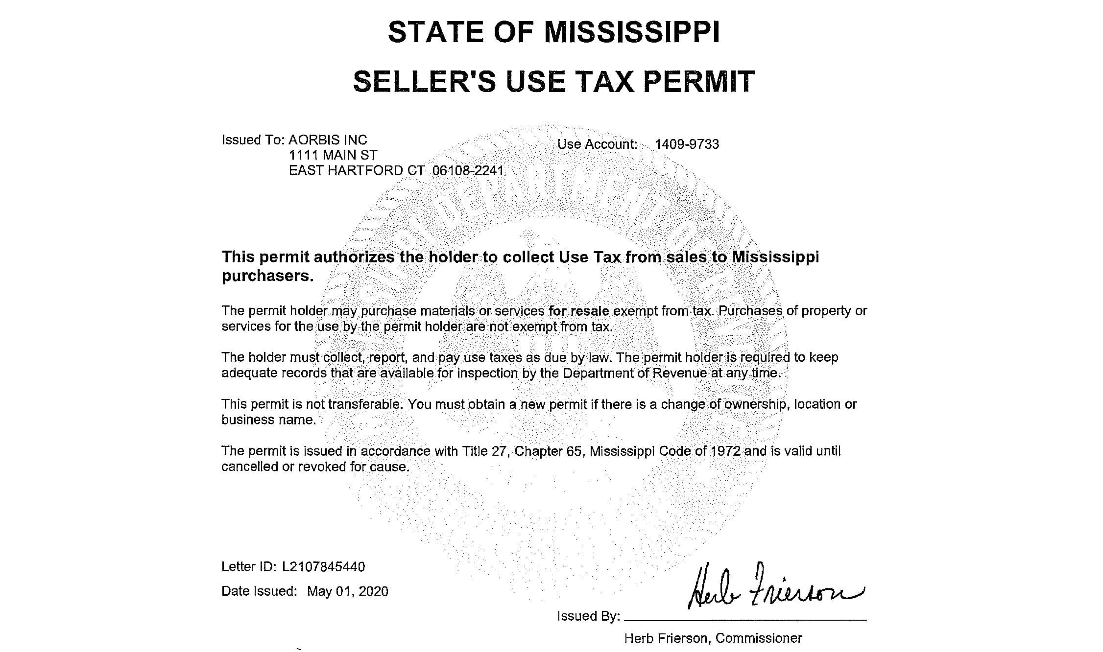 Mississippi---Permit